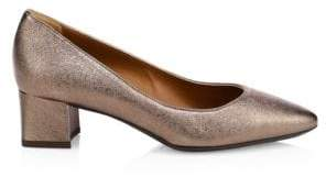 Aquatalia Pasha Metallic Leather Pumps