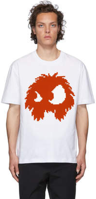 McQ White and Orange Chester T-Shirt