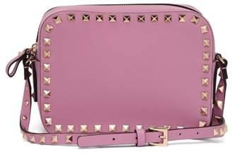 da53d445a97e Valentino Rockstud Camera Leather Cross Body Bag - Womens - Pink