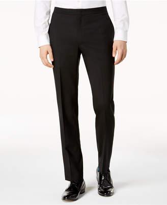 DKNY Men's Modern-Fit Black Tuxedo Suit Pants