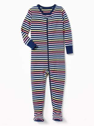 Old Navy Striped Footed Sleeper for Toddler Girls & Baby