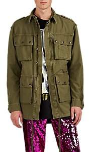 Faith Connexion Men's Graffiti-Graphic Cotton Canvas M65 Jacket - Olive