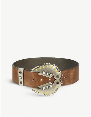 Isabel Marant Abigail studded leather belt