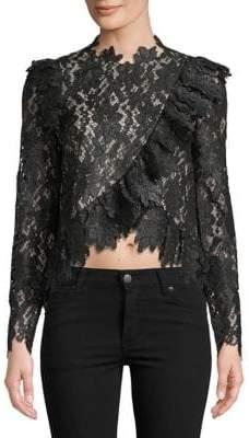 Saylor Jasmyn Long-Sleeve Lace Blouse
