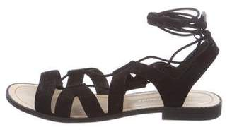 Rebecca Minkoff Suede Lace-Up Sandals