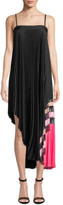 Milly Irene Stretch Silk Pleated Dress