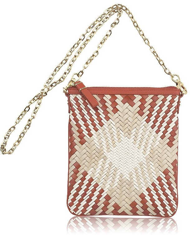 Cole Haan Genevieve Plaid North/South Mini Crossbody Bag