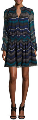 Diane von Furstenberg Kelley Encore Printed Blouson Dress $398 thestylecure.com