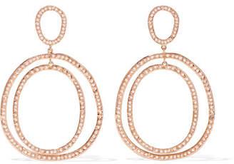 Ileana Makri Again Double 18-karat Rose Gold Diamond Earrings