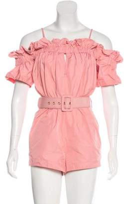 Alice McCall Ruffled Off-The-Shoulder Romper