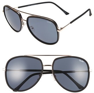 Women's Quay Australia 'Needing Fame' 65Mm Aviator Sunglasses - Black/ Smoke $55 thestylecure.com