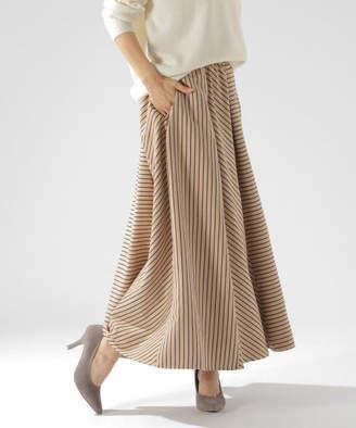 BAYFLOW (ベイフロー) - スエードフレアプリントスカート