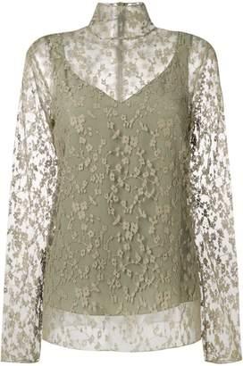 Chloé sheer floral blouse