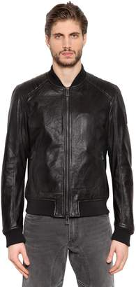 Belstaff Pershall Leather Bomber Jacket