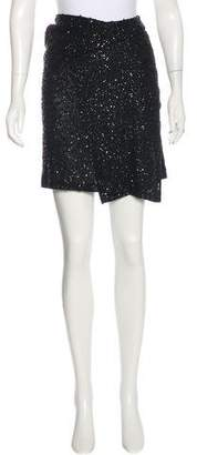 Donna Karan Sheer Sequined Skirt