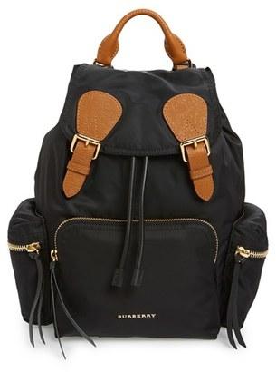 Burberry 'Medium Runway Rucksack' Nylon Backpack - Black $1,250 thestylecure.com
