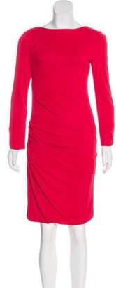 Giorgio Armani Draped Knee-Length Dress