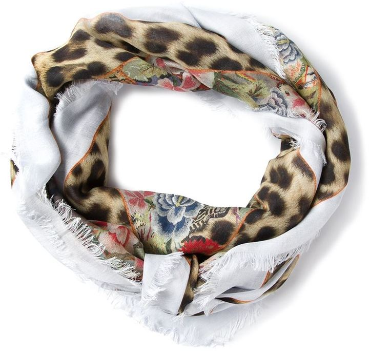 Alexander McQueen mixed print scarf