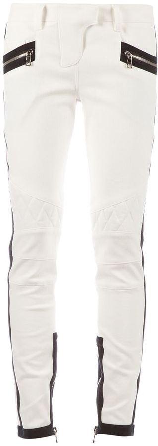 Balmain zipped skinny trouser