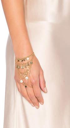 Ettika Coin Hand Chain in Metallic Gold. $40 thestylecure.com