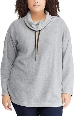 Chaps Plus Size Cowlneck Top