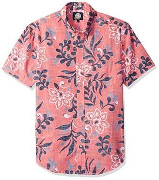 a7a08fec25f Reyn Spooner Men s Perennial Pareau Weekend Wash Tailored Fit Hawaiian Shirt