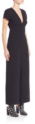 Alexander Wang T by Alexander Wang Open-Back Wide-Leg Jumpsuit
