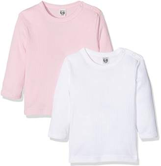 Care Baby Girls' Long Sleeve Top, Organic Cotton (Pack of 2),74