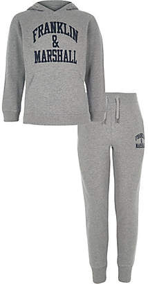 River Island Boys Franklin and Marshall grey hoodie outfit