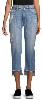 Distressed Slim Flare Jeans
