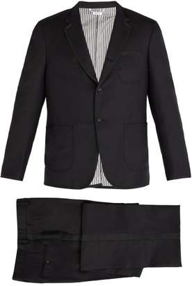 Thom Browne Contrast Trim Wool Tuxedo - Mens - Black
