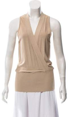 Max Mara Sleeveless Draped Top w/ Tags