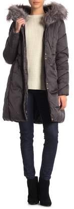 Via Spiga Faux Fur Trimmed Hooded Jacket
