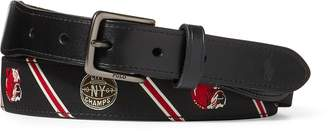 Ralph Lauren Dog-Overlay Webbed Belt