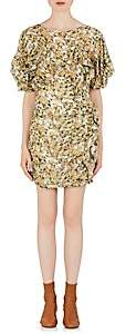 Isabel Marant Women's Face Floral Minidress - Yellow