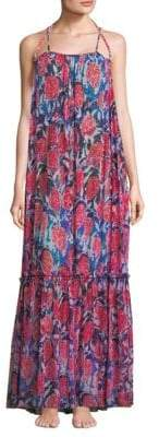 Fuzzi Swim Floral Print Maxi Dress