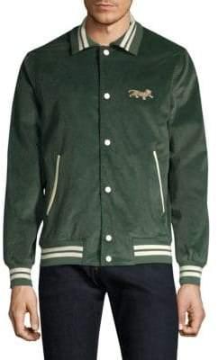Ovadia & Sons Leopard Varsity Jacket