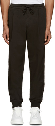 McQ Alexander Mcqueen Black Chino Trackpant Trousers $315 thestylecure.com