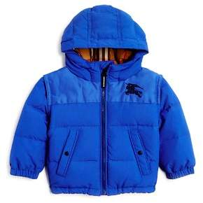 Burberry Boys' Mini Ezra Hooded Down Puffer Coat - Baby