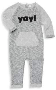 Petit Lem Baby Boy's Doodle Playsuit