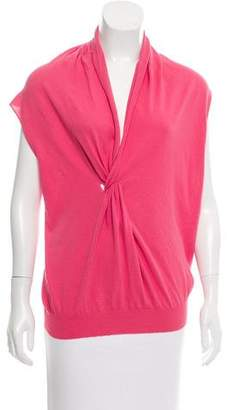 Lanvin Sleeveless Knot-Accented Top