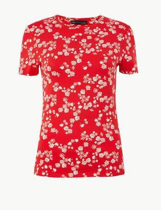 Marks and Spencer Floral Fitted T-Shirt