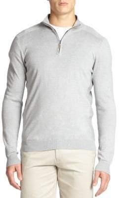 Saks Fifth Avenue COLLECTION Silk-Blend Quarter-Zip Sweater