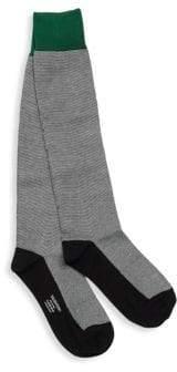 Valentino Colorblock Cotton Crew Socks