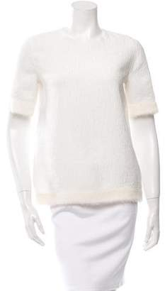 Derek Lam Gazar Plisse Short Sleeve Blouse w/ Tags
