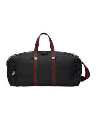 Gucci Technical Canvas Duffel Bag, Black