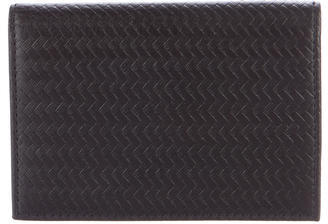 Brooks Brothers Brooks Brothers Woven Leather Card Case