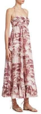 Zimmermann Kali Hawaiian Linen Maxi Dress