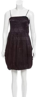 Calvin Klein Collection Fil Coupé Satin Dress