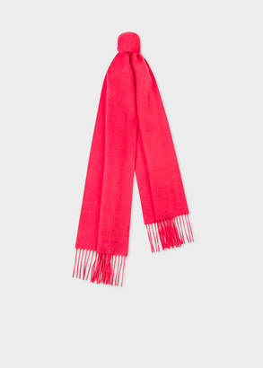 Paul Smith Coral Cashmere Scarf